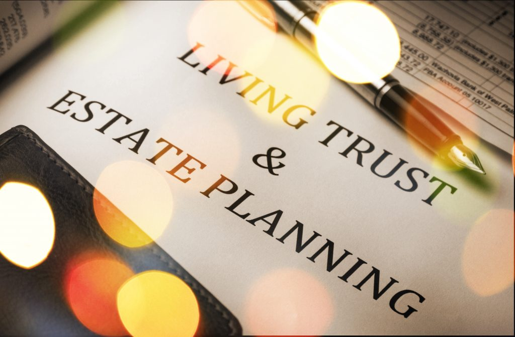an image living trust and estate planning